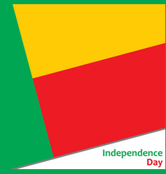 Benin independence day vector