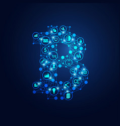bitcoin link vector image