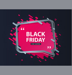 black friday sale banner discount poster vector image