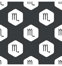 Black hexagon Scorpio pattern vector