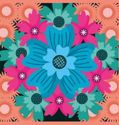 blue flower floral decoration background vector image