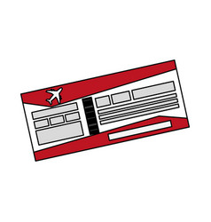 boarding pass or ticket icon image vector image