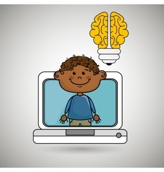 Boy infant pc idea vector