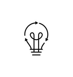 bulb lamp energy recycle logo icon vector image