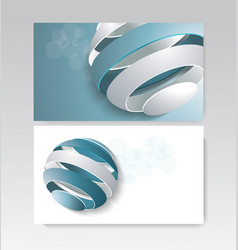 business card design with fragmented ball vector image
