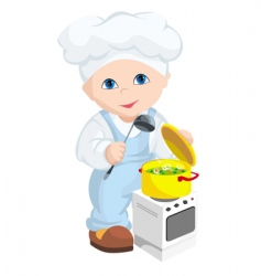 Child cook vector