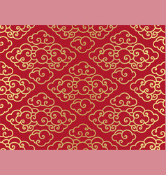 chinese clouds traditional seamless pattern vector image