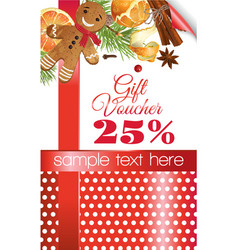 Christmas gift voucher vector