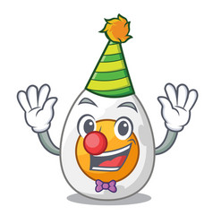 clown freshly boiled egg isolated on mascot vector image