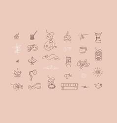 coffee minimalism modern symbols beige vector image