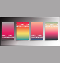 colorful gradient covers minimal design vector image