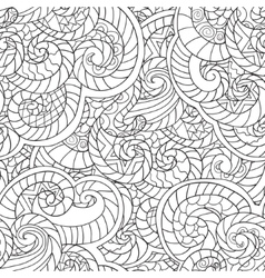 Coloring for adults Seamless Pattern from vector image
