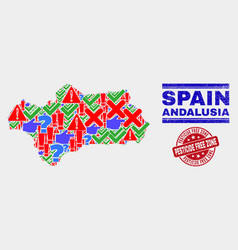 Composition andalusia province map symbol vector