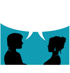 couple people talking vector image