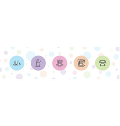 cradle icons vector image