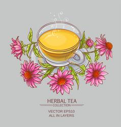 Cup of echinacea tea vector