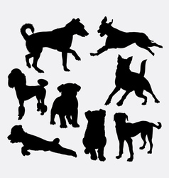 Dog pet animal silhouette 20 vector image