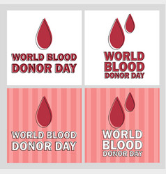 donate blood concept with vector image
