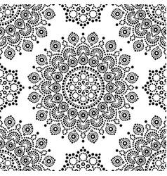 Dot painting monochrome seamless pattern vector