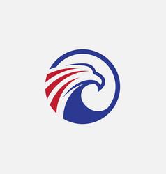 eagle icon design hawk logo vector image