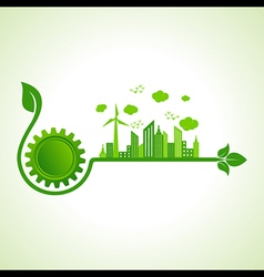 Ecology concept with gear icon vector