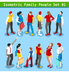 Family Set 01 People Isometric vector image