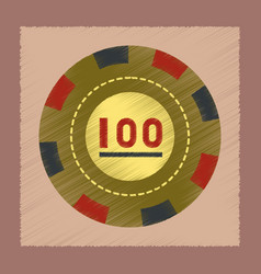Flat shading style icon poker chips vector