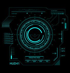 Futuristic touch screen user interface hud vector
