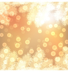 Gold christmas lights background vector image