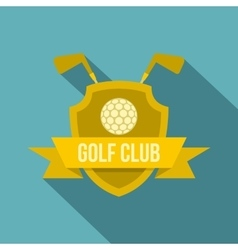 Golf club icon flat style vector