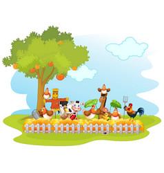 happy farm animal isolated vector image