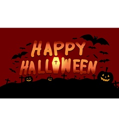 Happy Halloween image with pumpkin vector