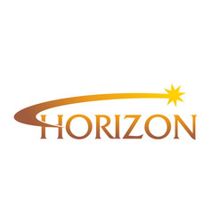Horizon solutions logo design template vector