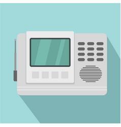 House intercom icon flat style vector
