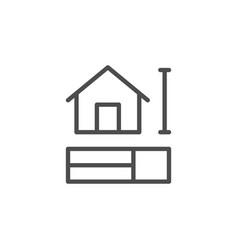 House scheme line icon vector