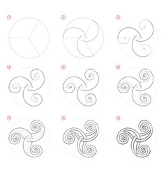How to draw step-wise celtic popular symbol vector