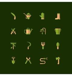 icons garden tools vector image