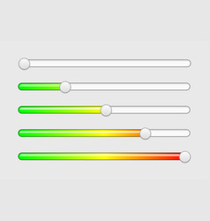 interface slider buttons with colored scale vector image