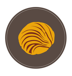 Isolated bakery cookie vector