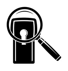 Keyhole under magnifier vector