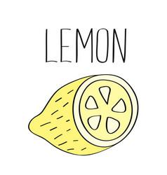 Lemon print vector