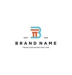Letter b law logo design vector
