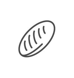 long loaf bread line icon vector image