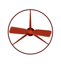 Marine propeller fan wind ventilator vector