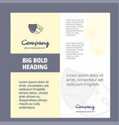 masks company brochure title page design company vector image