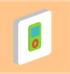 media player computer symbol vector image
