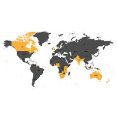 Member states british commonwealth orange vector