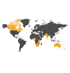 Member states of the british commonwealth orange vector