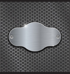 metal decorative plate on iron perforated vector image