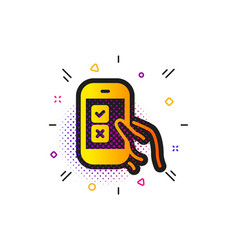 Mobile survey icon select answer sign vector